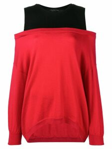 Federica Tosi double layer jumper - Red