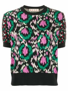 Marni jacquard textured knitted top - Black