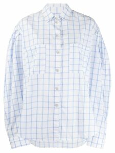 Natasha Zinko oversized check-print shirt - Blue