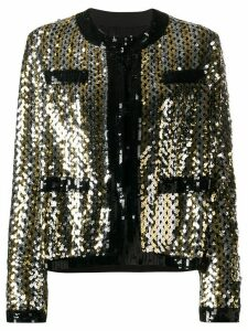 MSGM sequinned long-sleeved jacket - Black