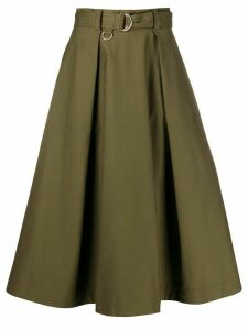 MSGM A-line pleated skirt - Green