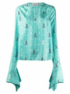 LANVIN JL printed blouse - Blue