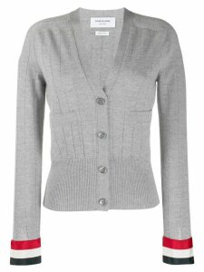 Thom Browne open stitch wool cardigan - Grey