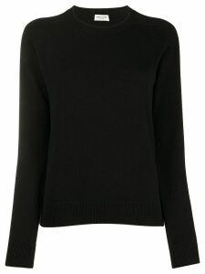 Saint Laurent cashmere ribbed crew neck jumper - Black