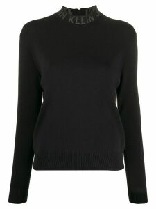 Calvin Klein Jeans logo collar slim-fit jumper - Black