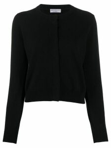 Brunello Cucinelli brass-embellished cashmere cardigan - Black
