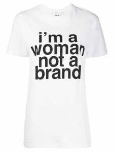 Erika Cavallini slogan print cotton T-shirt - White