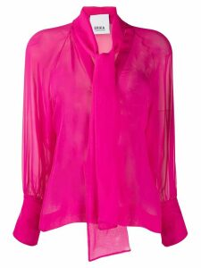 Erika Cavallini pussy-bow silk blouse - PINK