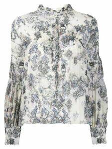 IRO Sianna tapestry print blouse - NEUTRALS
