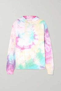 DANNIJO - Hailey Tie-dyed Cotton-blend Jersey Hoodie - Red