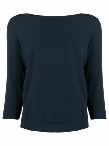 Nuur cropped sleeve knit top - Blue
