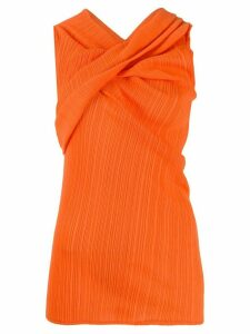 Nina Ricci cross neck top - ORANGE