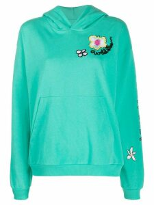 Mira Mikati embroidered hoodie - Green