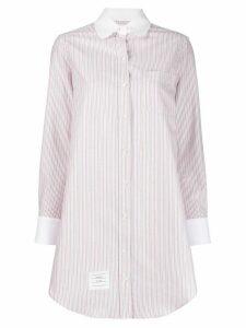 Thom Browne striped long shirt - White