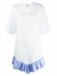 MSGM trimmed T-shirt dress - White