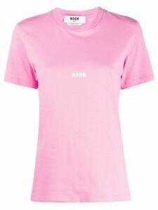 MSGM logo T-shirt - PINK