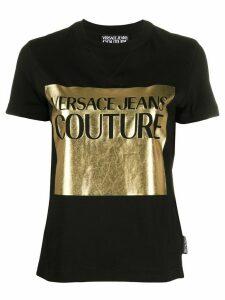 Versace Jeans Couture foil logo T-shirt - Black