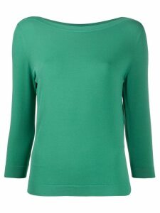 Nuur long sleeve relaxed knit top - Green