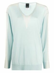 Pinko sheer glitter panel jumper - Blue
