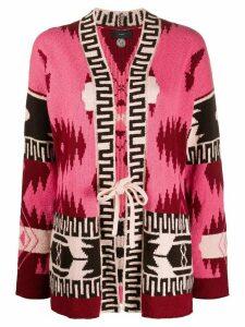 Alanui aztec pattern cardigan - PINK