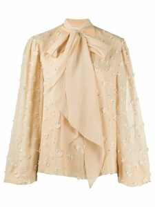 Chloé floral embroidered blouse - NEUTRALS