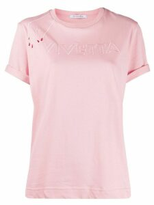 Vivetta embroidered logo T-shirt - PINK