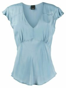 Pinko short-sleeve v-neck top - Blue