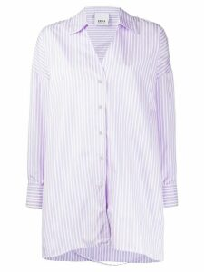 Erika Cavallini striped loose-fit cotton shirt - PURPLE