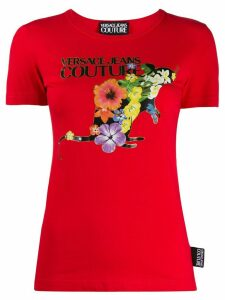 Versace Jeans Couture graphic print T-shirt - Red