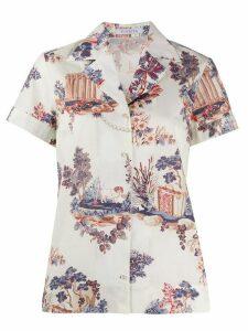 Vivetta rural-print shirt - NEUTRALS