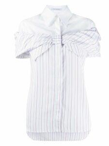 Vivetta bow-tie striped shirt - White