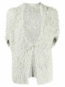 Ma'ry'ya silk faux fur gilet - Grey