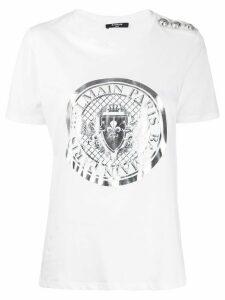 Balmain logo print T-shirt - White