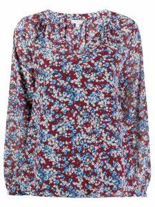 Tommy Hilfiger floral print loose-fit blouse - Black