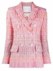 Giada Benincasa woven double breasted blazer - PINK