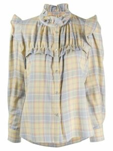Isabel Marant Étoile Idety checked cotton shirt - Yellow