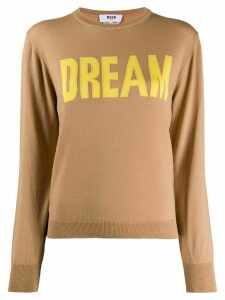 MSGM Dream intarsia jumper - NEUTRALS