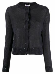 Brunello Cucinelli sequined knitted cardigan - Blue