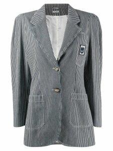 Miu Miu striped fitted blazer - Blue