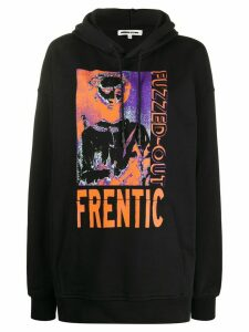 McQ Alexander McQueen oversized 'Fuzzed-Out' hoodie - Black
