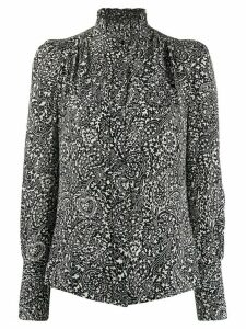 Isabel Marant Lamia printed high-neck blouse - Black