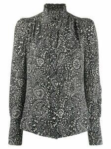 Isabel Marant Lamia printed high-neck blouse - Black