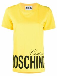 Moschino logo-printed T-shirt - Yellow