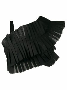 Loulou asymmetric pleated cropped top - Black