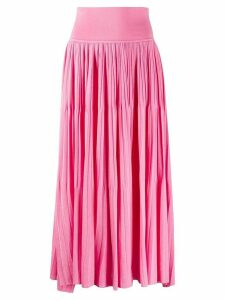 Sminfinity pleated knit skirt - PINK
