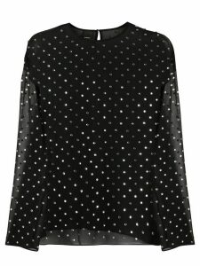 Pinko polka dot sheer blouse - Black
