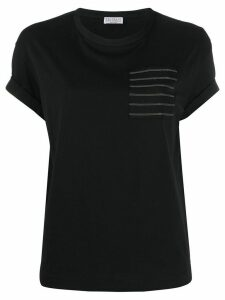 Brunello Cucinelli chest-pocket T-shirt - Black