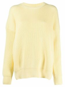 Loewe side slits ribbed jumper - Yellow