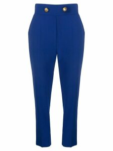 Elisabetta Franchi high rise cropped trousers - Blue