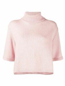 Prada cashmere roll-neck T-shirt - PINK